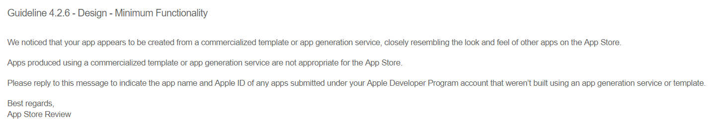New guidelines for Apple App Store