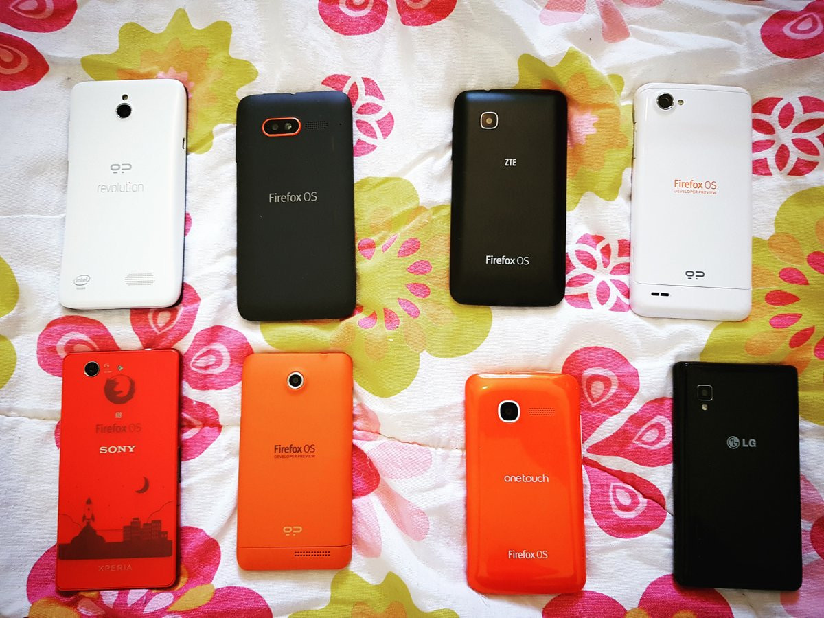 Some of my Firefox OS devices
